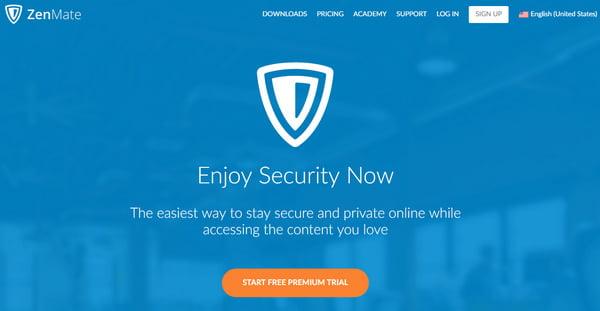 ZenMate YouTube解鎖VPN