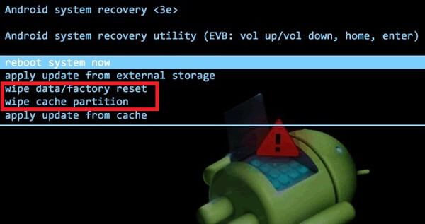 Enter Android recovery mode to Unlock Android Phone