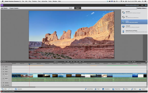 Editor di YouTube - Adobe Premiere Elements 11
