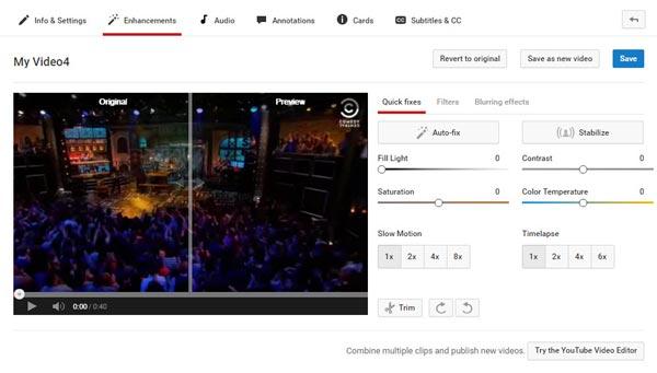 Editor video YouTube