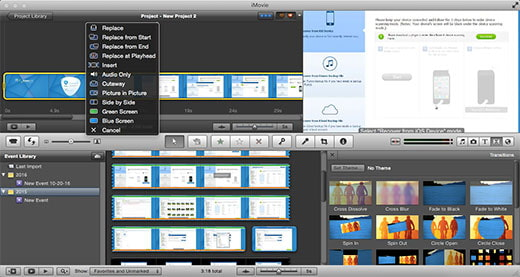 how to create a picture in picture in imovie