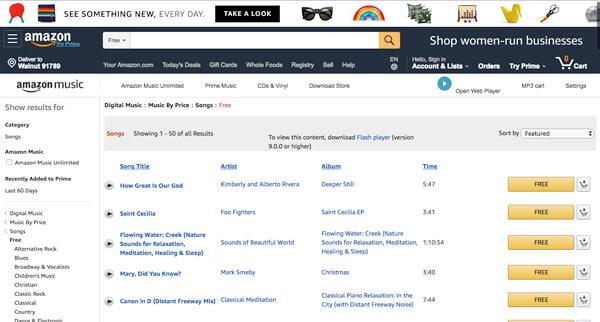 Amazon gratis muziek
