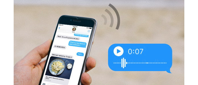 how to make a voice message on iphone