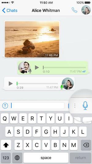 Messaggi vocali di WhatsApp