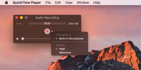 Szybki interfejs nagrywania dźwięku