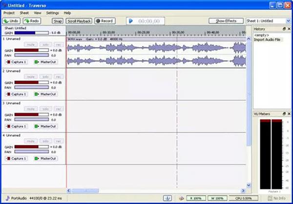 Zrzut ekranu Traverso