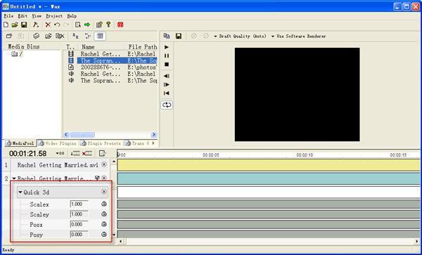 Software di editing video di cera