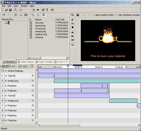 Editor video di cera