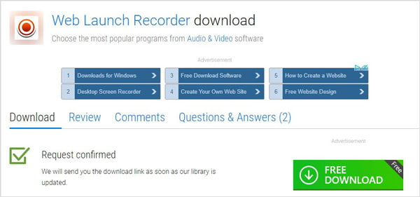 Web Launch Recorder Download