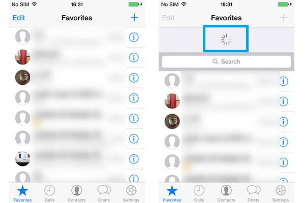 Vernieuw iPhone WhatsApp-favorieten
