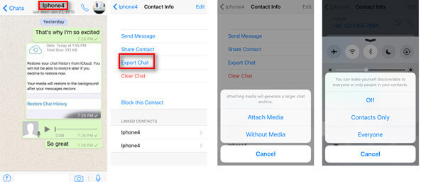 Back up WhatsApp Messages with AirDrop