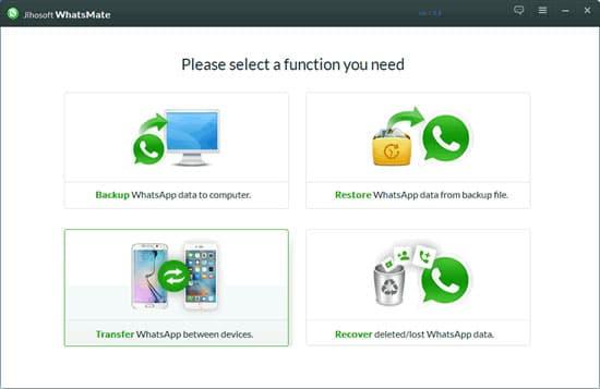 Wybierz transfer WhatsApp