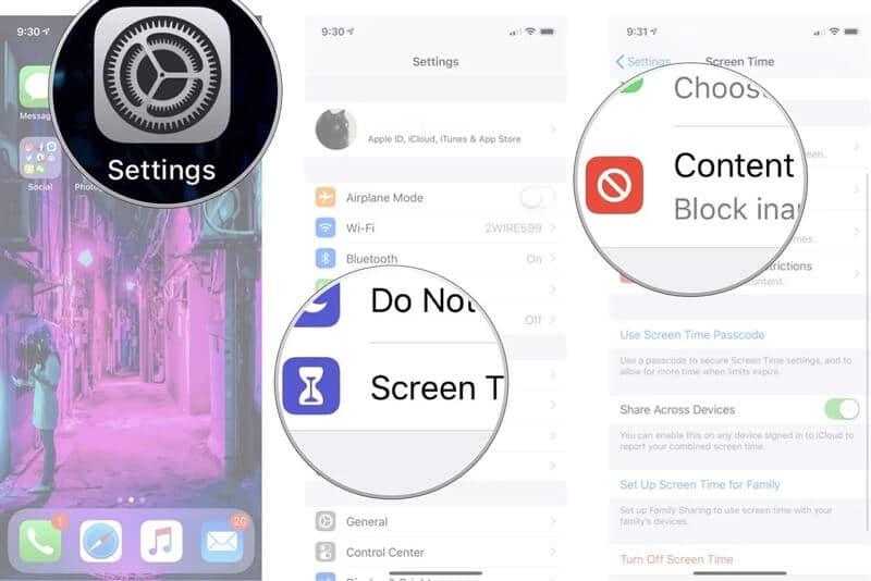 Dove sono le restrizioni su iPhone iOS 12