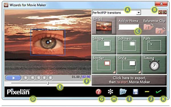 Plugin Perfectpip Wizard per Windows Movie Maker