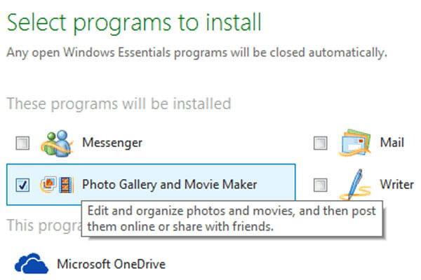 Installa Windows Movie Maker