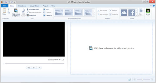 Aggiungi foto video a Windows Movie Maker