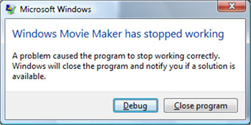 Windows Movie Maker smette di funzionare