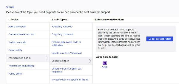 Odeslat Yahoo ID