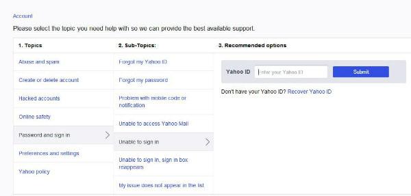 Zadejte Yahoo ID