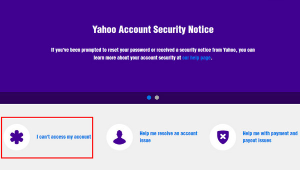 yahoo mail security help