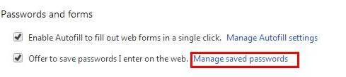 Zarządzaj zapisanymi hasłami