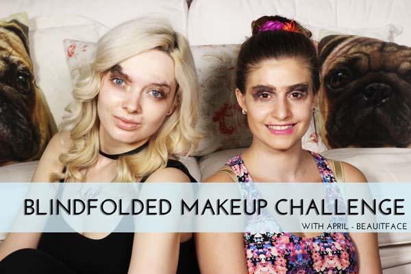 Πρόκληση μακιγιάζ με δεμένα μάτια