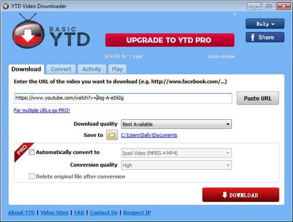 YTD YouTube Downloader