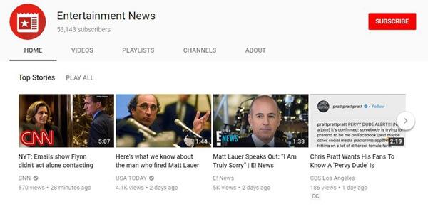 Notizie di intrattenimento
