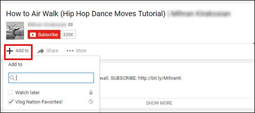 Προσθήκη βίντεο στη λίστα αναπαραγωγής YouTube