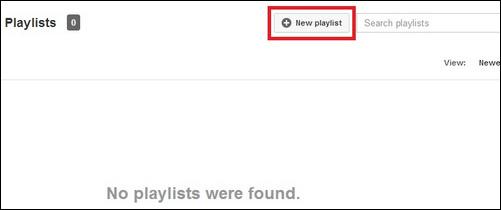 Δημιουργία νέας λίστας αναπαραγωγής YouTube