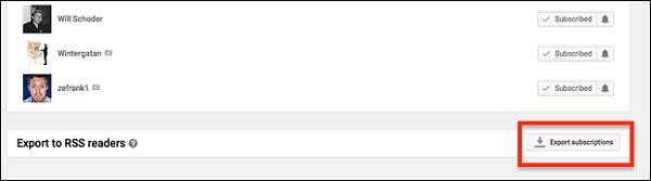 Το YouTube προσφέρει ένα αρχείο OPML
