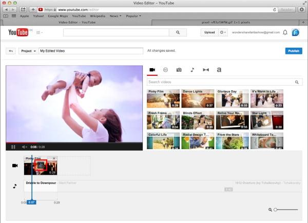 Dividi video con YouTube Video Editor