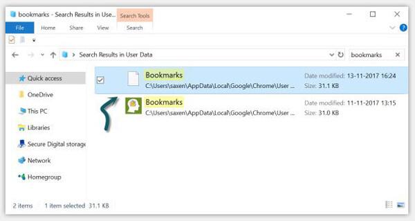 Przywróć usunięte zakładki Chrome