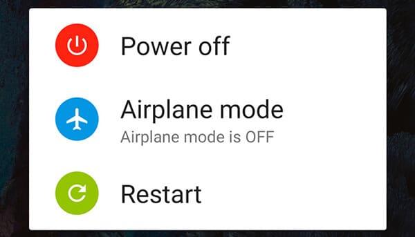 Riavvia Android