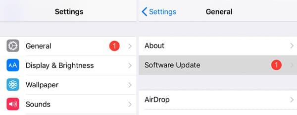 Aggiornamento a iOS