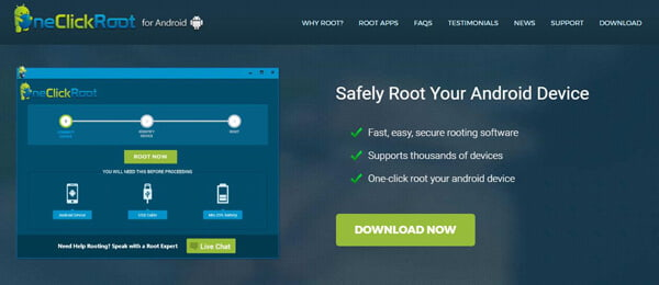 root apps to root android phone tablet safely