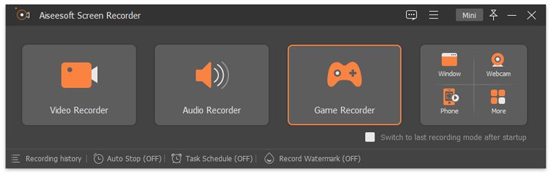 Vyberte Game Recorder