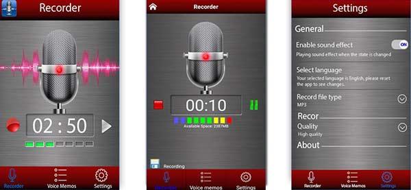Rejestrator dźwięku Android