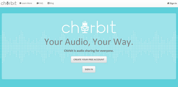 Interface of Chirbit