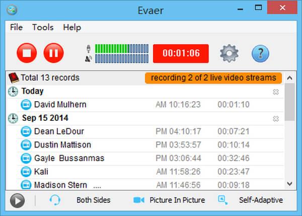 Εγγραφή Skype Evaer