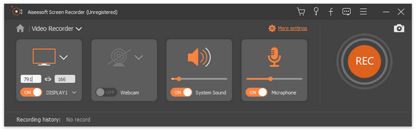 Screen Recorder interface