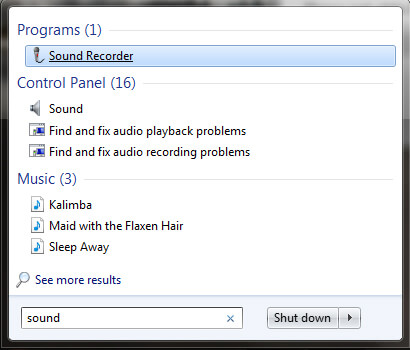 Uruchom rejestrator dźwięku