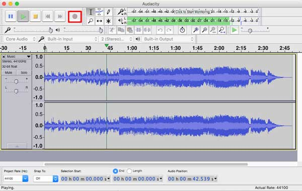 使用Audacity錄製音頻