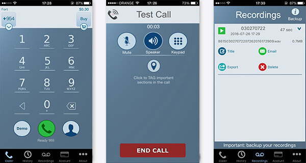 Registra chiamate con Call Recorder