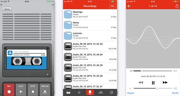 Rejestrator audio dla iPhone / iPad / iPod