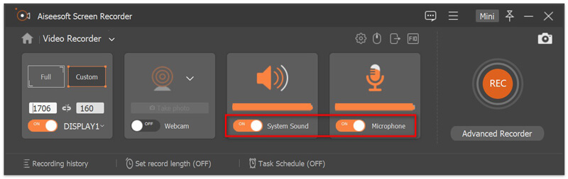 Recording Audio Settings