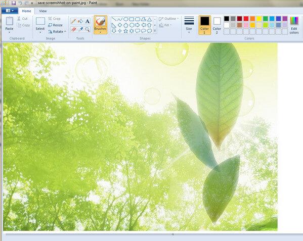 在Windows上使用Paint保存屏幕截圖