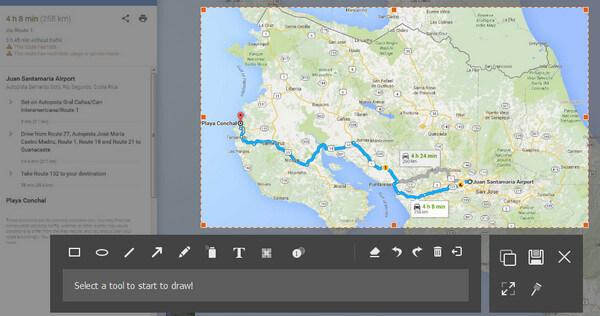 Seleziona l'area di Google Maps