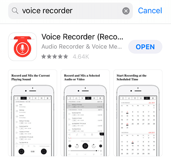 Cerca registrazione vocale
