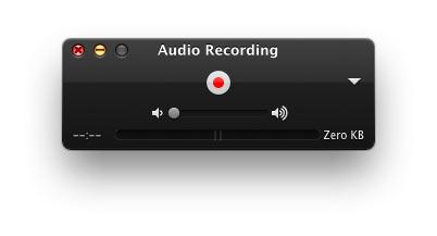 開始使用Quicktime錄製音頻